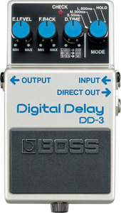 Boss DD-3 Digital Delay Guitar Delay Pedal - Cover