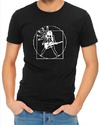 Vitruvian Guitar Man Mens T-Shirt Black (Large)
