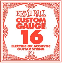 Ernie Ball 1016 .016 Plain Steel Single String - Cover