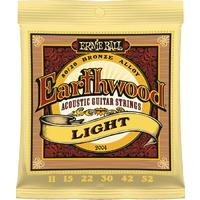 Ernie Ball 2004 Earthwood Light 80/20 Bronze Acoustic Guitar Strings