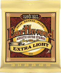 Ernie Ball 2006 Earthwood Extra Light 80/20 Bronze Acoustic Guitar Strings - Cover