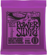 Ernie Ball 2220 Power Slinky 11-48 Nickel Wound Electric Guitar Strings - Cover
