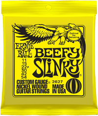 Ernie Ball 2627 Beefy Slinky 11-54 Nickel Wound Electric Guitar Strings - Cover