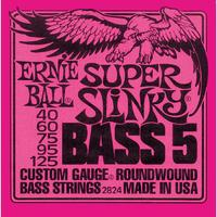 Ernie Ball 2824 Super Slinky 40-125 Nickel Wound 5 String Bass Guitar Strings