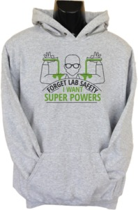 Forget Lab Safety Womens Hoodie Grey (Large) - Cover
