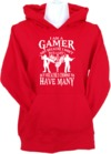I Am a Gamer Womens Hoodie Red (Small)