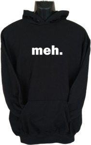 Meh Womens Hoodie Black (Large) - Cover