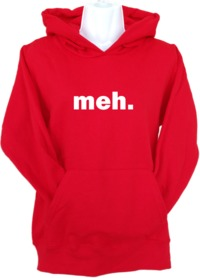 Meh Womens Hoodie Red (Small) - Cover