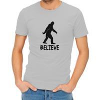 Believe Mens T-Shirt Grey (X-Large)