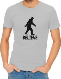 Believe Mens T-Shirt Grey (X-Large) - Cover