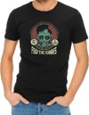 Feed the Zombies Mens T-Shirt Black (Large)