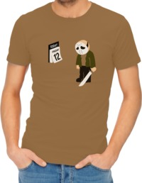Friday the 12th Mens T-Shirt Khaki (X-Large) - Cover