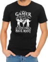 I Am a Gamer Mens T-Shirt Black (Large)