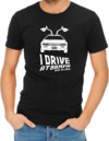 I Drive At 88mph Womens T-Shirt Black (X-Small)