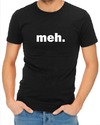 Meh Mens T-Shirt Black (Medium)