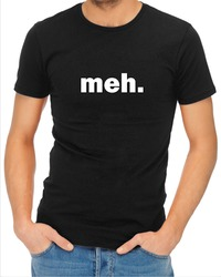 Meh Mens T-Shirt Black (Large) - Cover