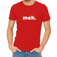 Meh Womens T-Shirt Red (X-Large)