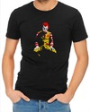 Ronald Mcdonald Joker Mens T-Shirt Black (Small)