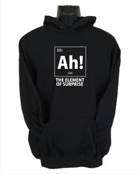Ah! the Element of Surprise Mens Hoodie Black (Small) - Cover