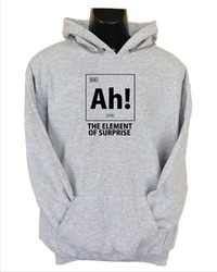 Ah! the Element of Surprise Mens Hoodie Grey (Small) - Cover