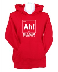 Ah! the Element of Surprise Mens Hoodie Red (Large) - Cover