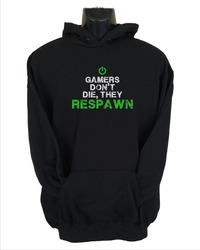 Gamers Don't Die Mens Hoodie Black (Large) - Cover