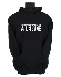 Schrodinger's Cat Womens Hoodie Black (X-Large) - Cover