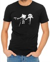 Pulp Fiction Adventure Time Mens T-Shirt Black (Small)