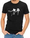 Pulp Fiction Adventure Time Mens T-Shirt Black (Large)
