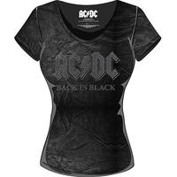 AC/DC Back In Black Acid Was Ladies T-Shirt (X-Small)