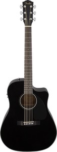 Fender CD-60CE Dreadnought Acoustic Electric Guitar (Black)
