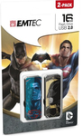 Emtec USB 2.0 M700 - 16GB - Batman vs Superman - 2 Pack