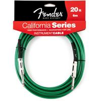Fender California Instrument Cable 6 Meter (Surf Green)
