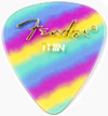 Fender 351 Shape Graphic Thin Pick (Rainbow)