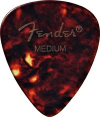 Fender 451 Shape Classic Celluloid Tortoise Shell Medium Pick - Cover