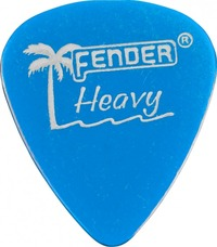 Fender California Clear Lake Placid Blue Heavy Pick - Cover