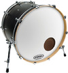 Evans BD24RGCW 24 Inch EQ3 Coated White Bass Drum Resonator Drum Head