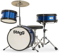 Stagg TIMJR312 BL 3pc 12 Inch Junior Drum Kit Including Hardware and Cymbals (Blue) - Cover
