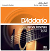 D'Addario EJ10 10-47 80/20 Bronze Extra Light Acoustic Guitar Strings