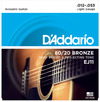 D'Addario EJ11 12-53 80/20 Bronze Light Acoustic Guitar Strings