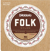 D'Addario EJ34 Folk Nylon 80/20 Bronze with Black Trebles and Ball Ends Nylon Classical Guitar Strings