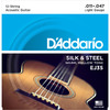D'Addario EJ35 11-47 Silk and Steel 12 String Acoustic Guitar Strings