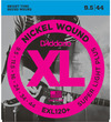 D'Addario EXL120+ 9.5-44 Nickel Wound Super Light Plus Electric Guitar Strings
