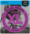 D'Addario EXL120-7 9-54 Nickel Wound Super Light 7 String Electric Guitar Strings