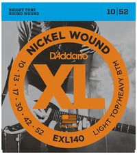 D'Addario EXL140 10-52 Nickel Wound Light Top Heavy Bottom Electric Guitar Strings - Cover
