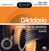 D'Addario EXP10 10-47 Coated 80/20 Bronze Extra Light Acoustic Guitar Strings
