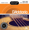 D'Addario EXP15 10-47 Coated Phosphor Bronze Extra Light Acoustic Guitar Strings