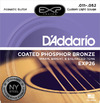 D'Addario EXP26 11-52 Coated Phosphor Bronze Custom Light Acoustic Guitar Strings