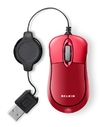 Belkin Mobile Retractable Mouse - USB; Red