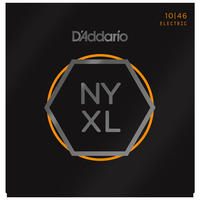 D'Addario NYXL1046 10-46 NYXL Nickel Wound Regular Light Electric Guitar Strings